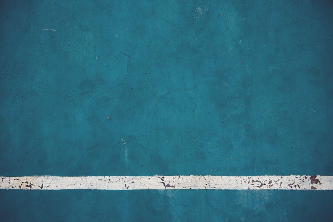 arrière-plan bleu, béton, briques