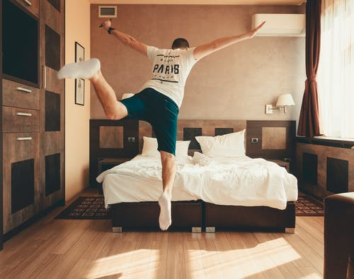 Free stock photo of bed, fun, jump