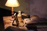wood, light, desk