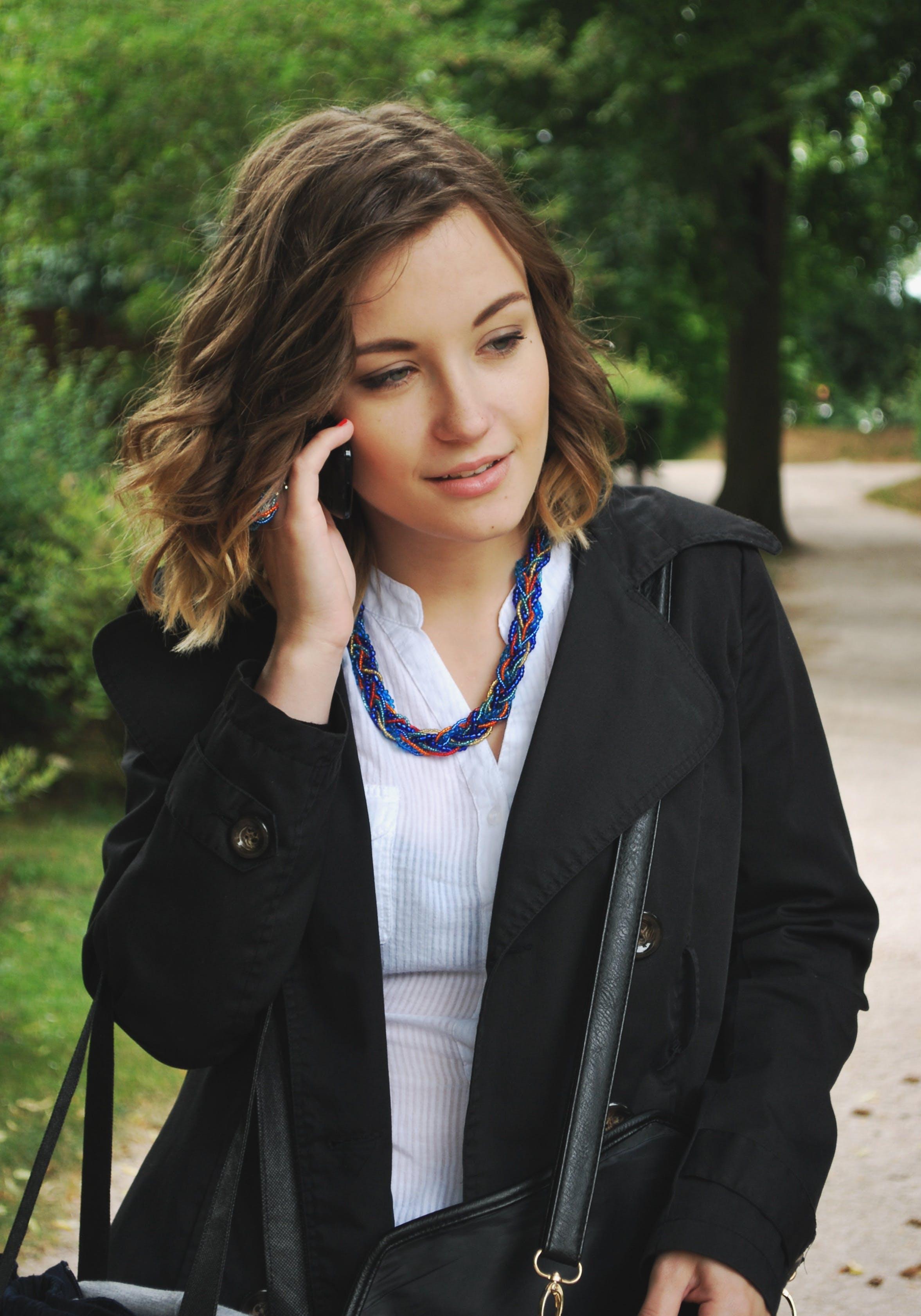 Free stock photo of woman, park, beauty, phone