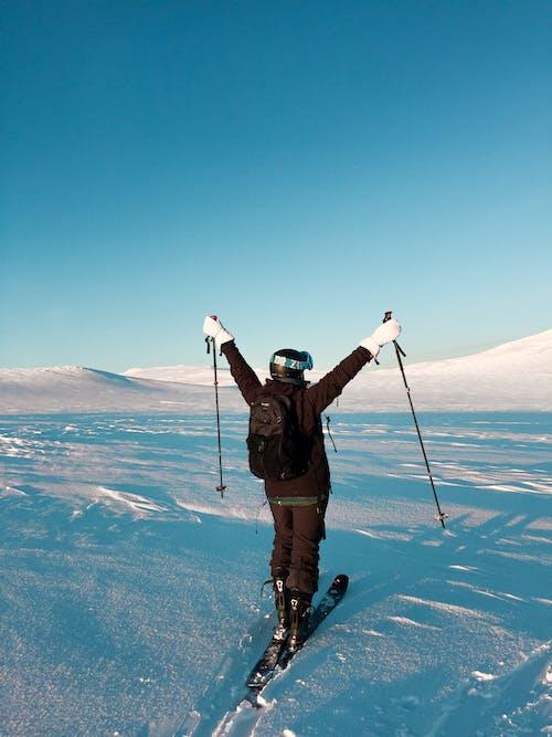 Foto profissional grátis de aventura, com frio, diversão, esporte