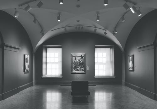 Greyscale Photo Of Gallery Photo