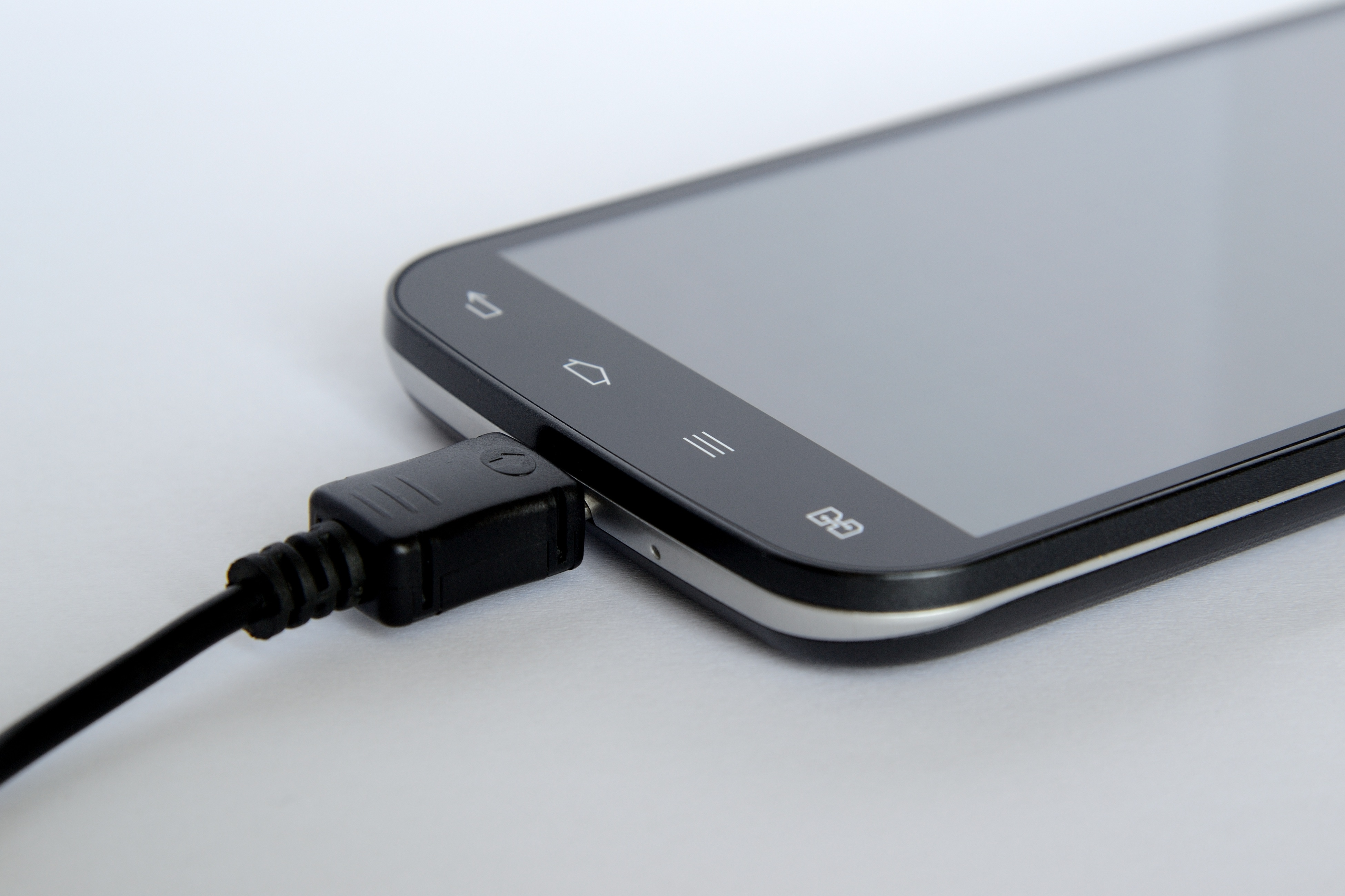 Black Android Smartphone Charge on