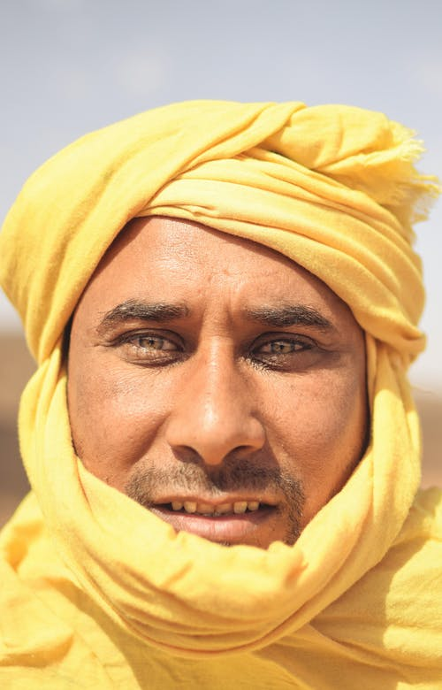 Man Wearing Yellow Hijab