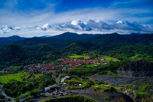 Ingyenes stockfotó bányászat, dombok, drón, drónfelvétel témában