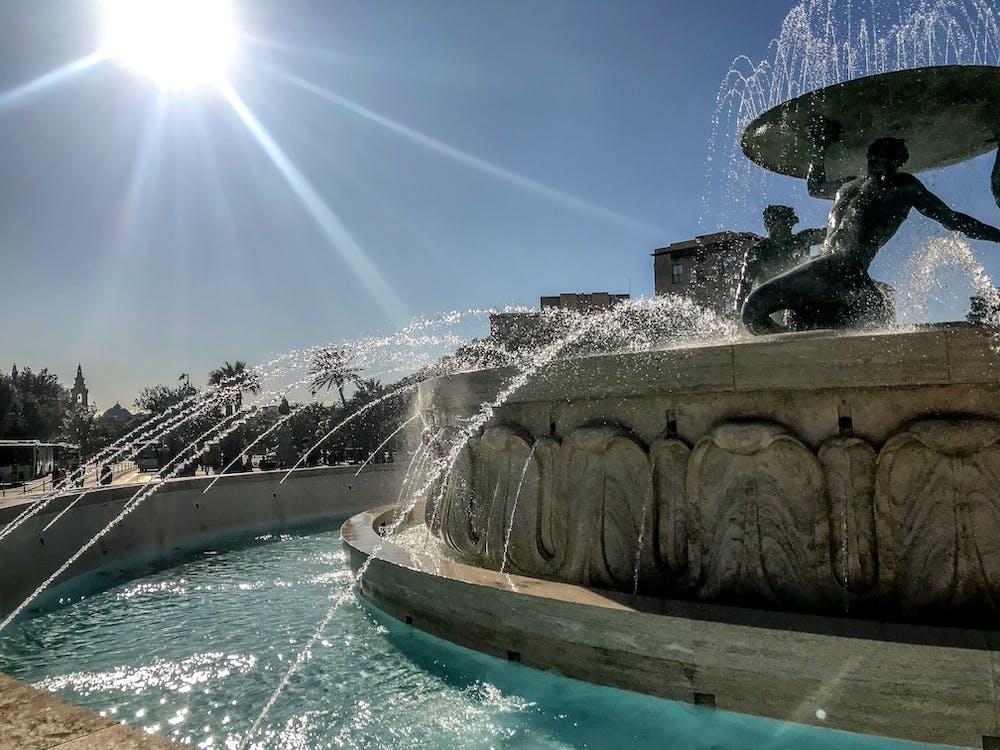 Photos gratuites de eau, fontaine, fontaine du soleil