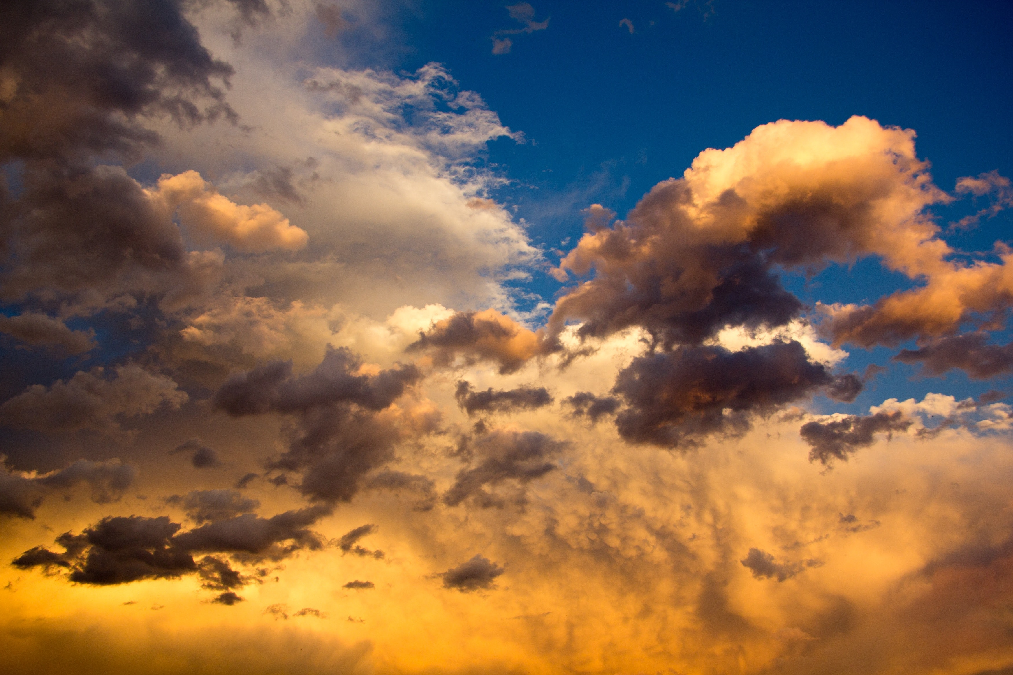 Nimbus Clouds On Clear Blue Sky During Golden Hour 183 Free