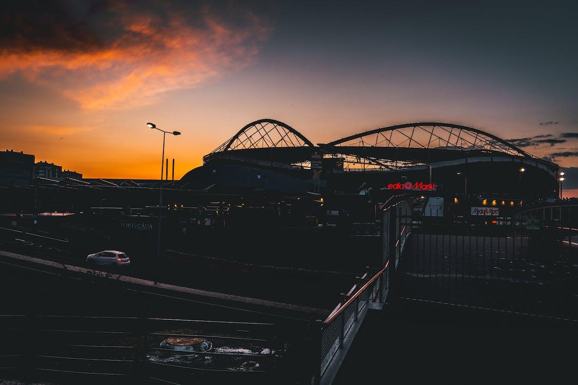 cielo, estadio, estadio de fútbol