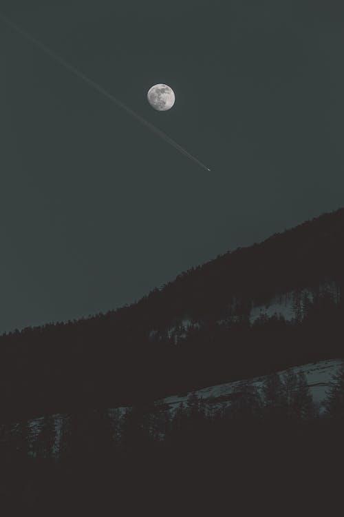 astronomia, cênico, céu