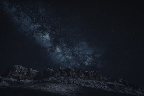 Canion Mountains on Night Sky