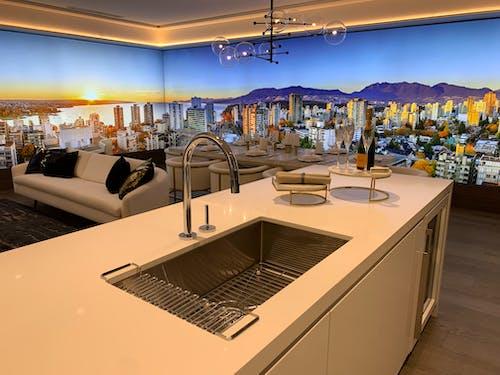 Darmowe zdjęcie z galerii z giełda, kuchnia, lada, meble