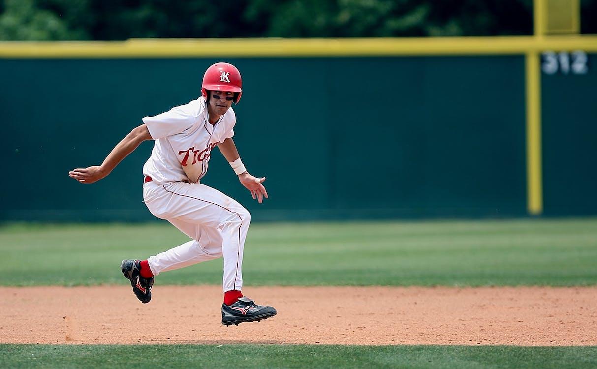 atlet, baseball, bidang