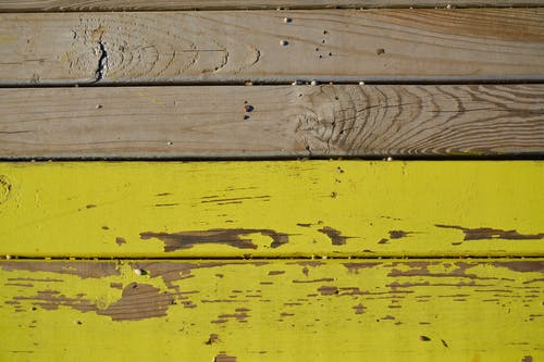 Yellow And Brown Wood