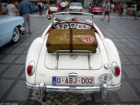 White Classic Mg Car