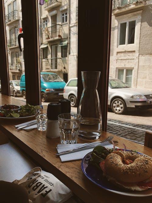 Photos gratuites de à l'intérieur, aliments, architecture, argenterie