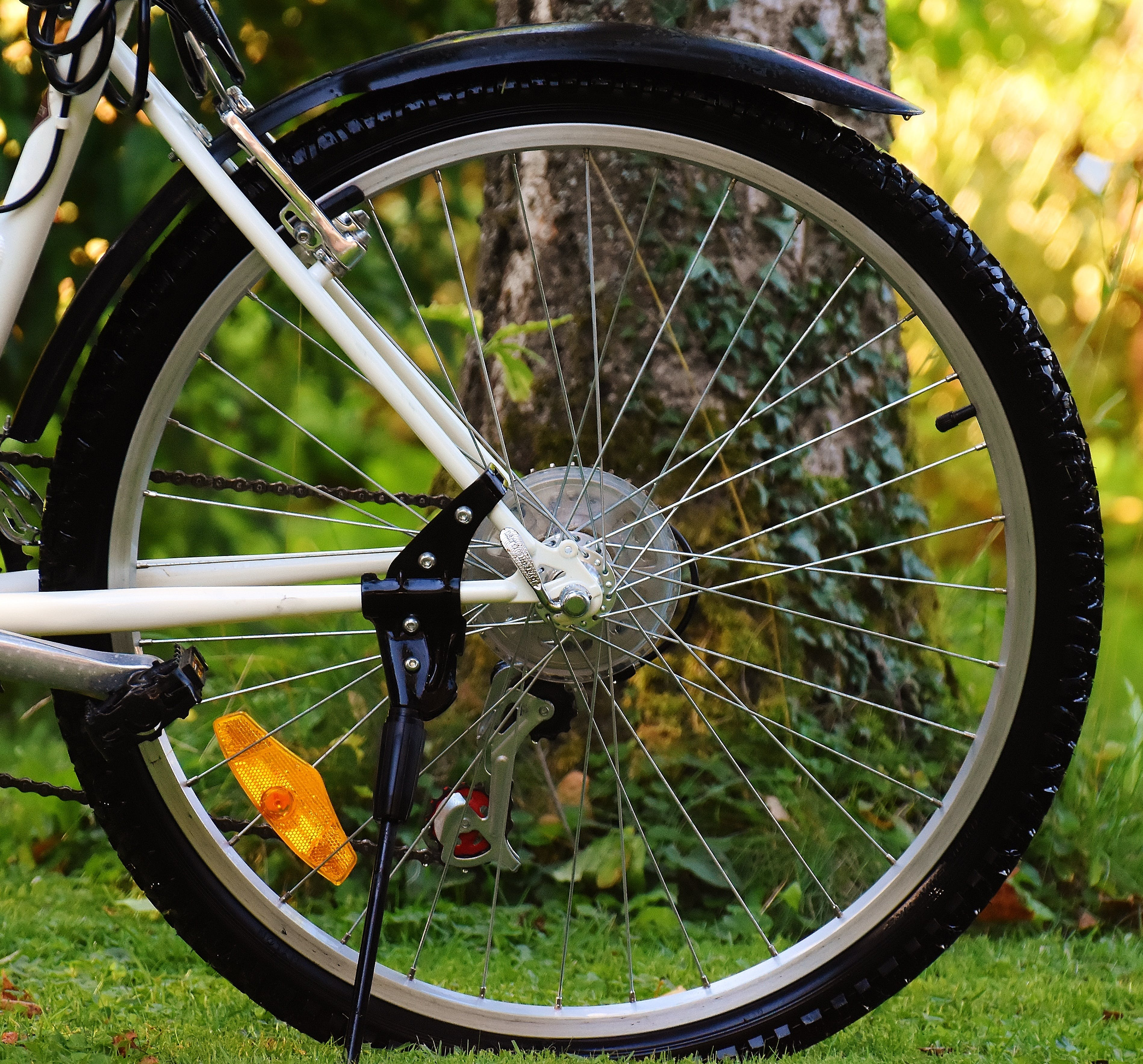 Gray Bicycle Wheel
