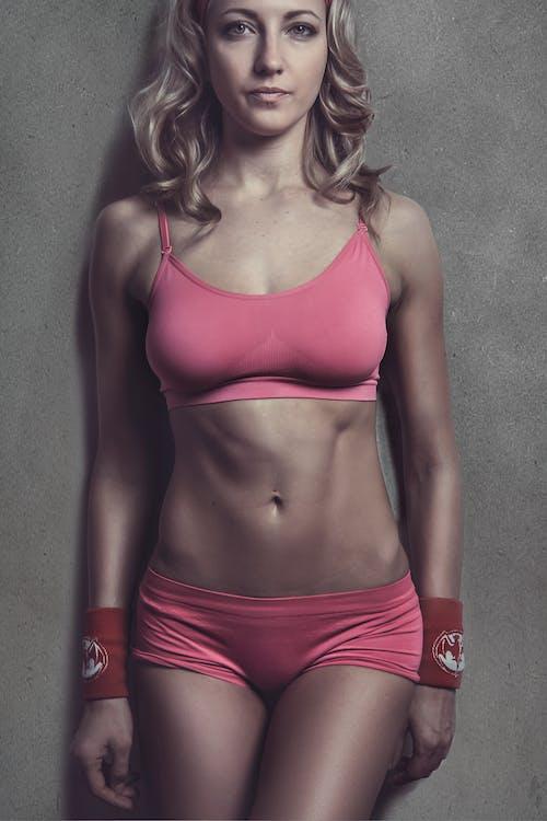 armband, atletisk tjej, attraktiv