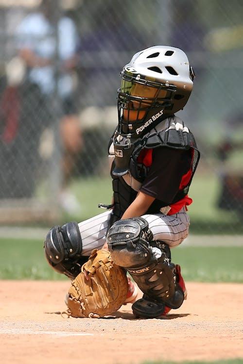 Foto stok gratis anak laki-laki, atlet, baseball, bidang