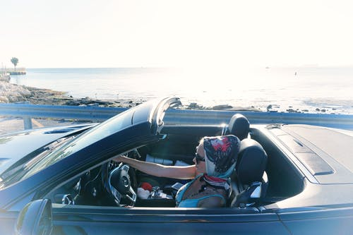 Free stock photo of car, driving, fashion, ocean