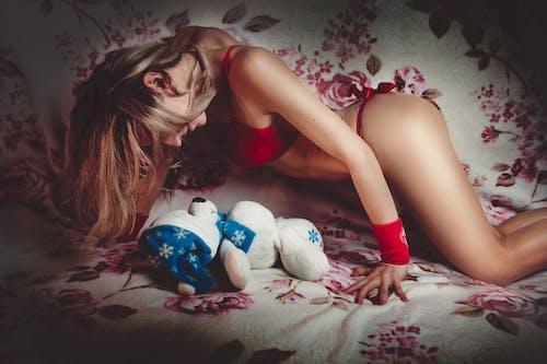 Fotobanka sbezplatnými fotkami na tému blond, dievča, erotický, medveď