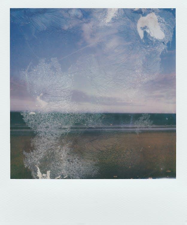 Polaroid, абстрактний, акварель