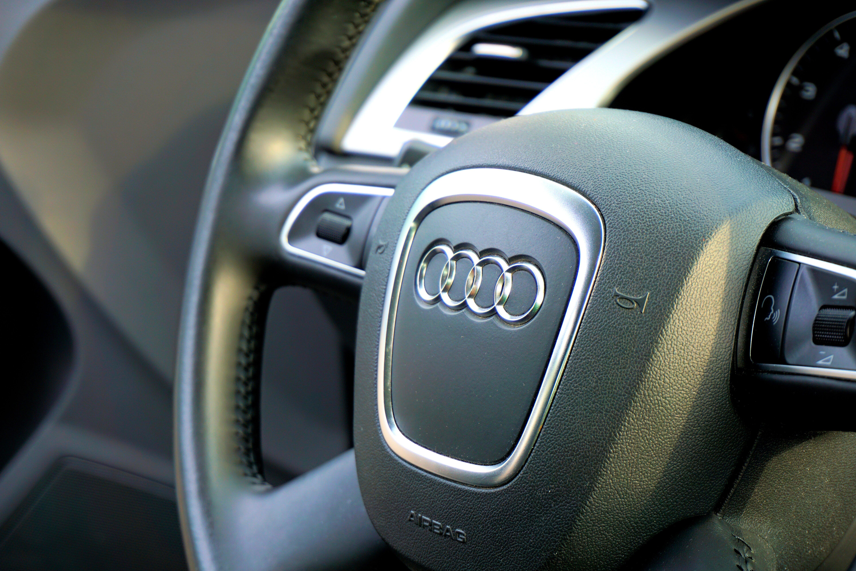 Gray Audi Vehicle Steering Wheel