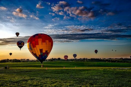 Free stock photo of flight, dawn, landscape, sky