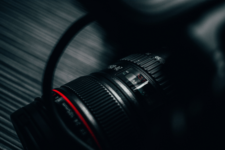 Close-up Photography Of Dslr Camera