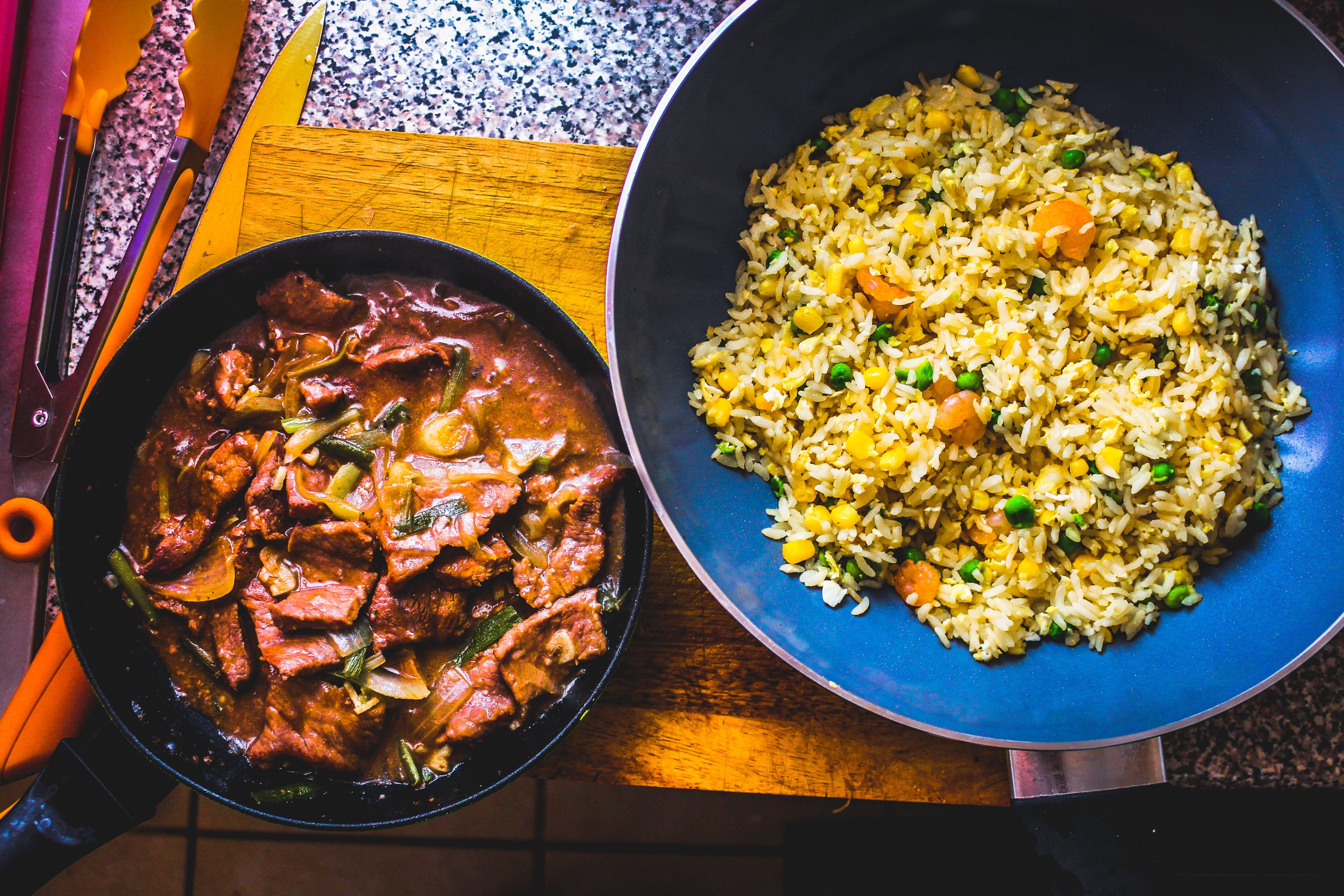 빈티지, 쌀, 아시아 음식, 육식가의 무료 스톡 사진