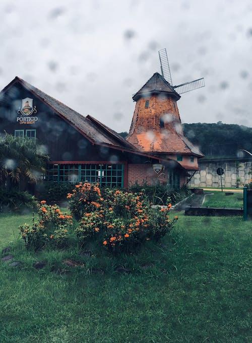 Imagine de stoc gratuită din agricultură, arhitectură, moară de vânt, turbină eoliană