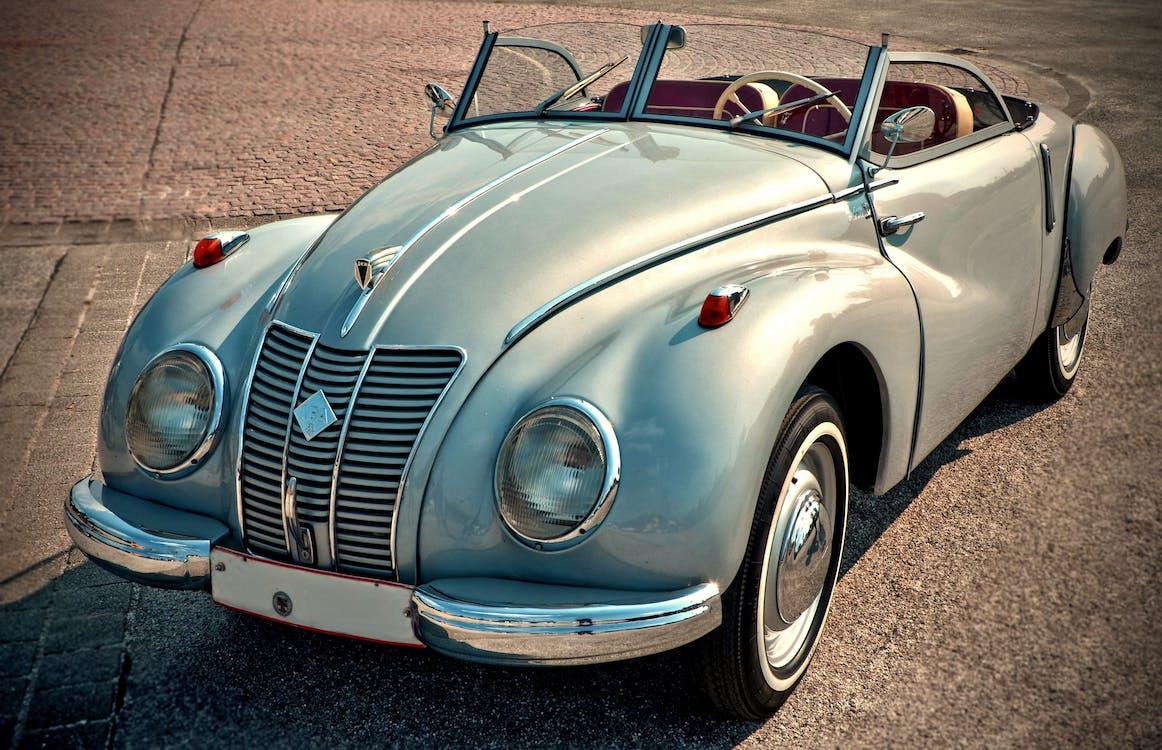 Gray Convertible Coupe