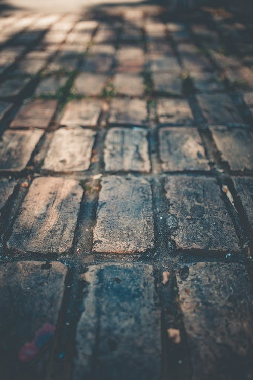 Brown Brick Floor
