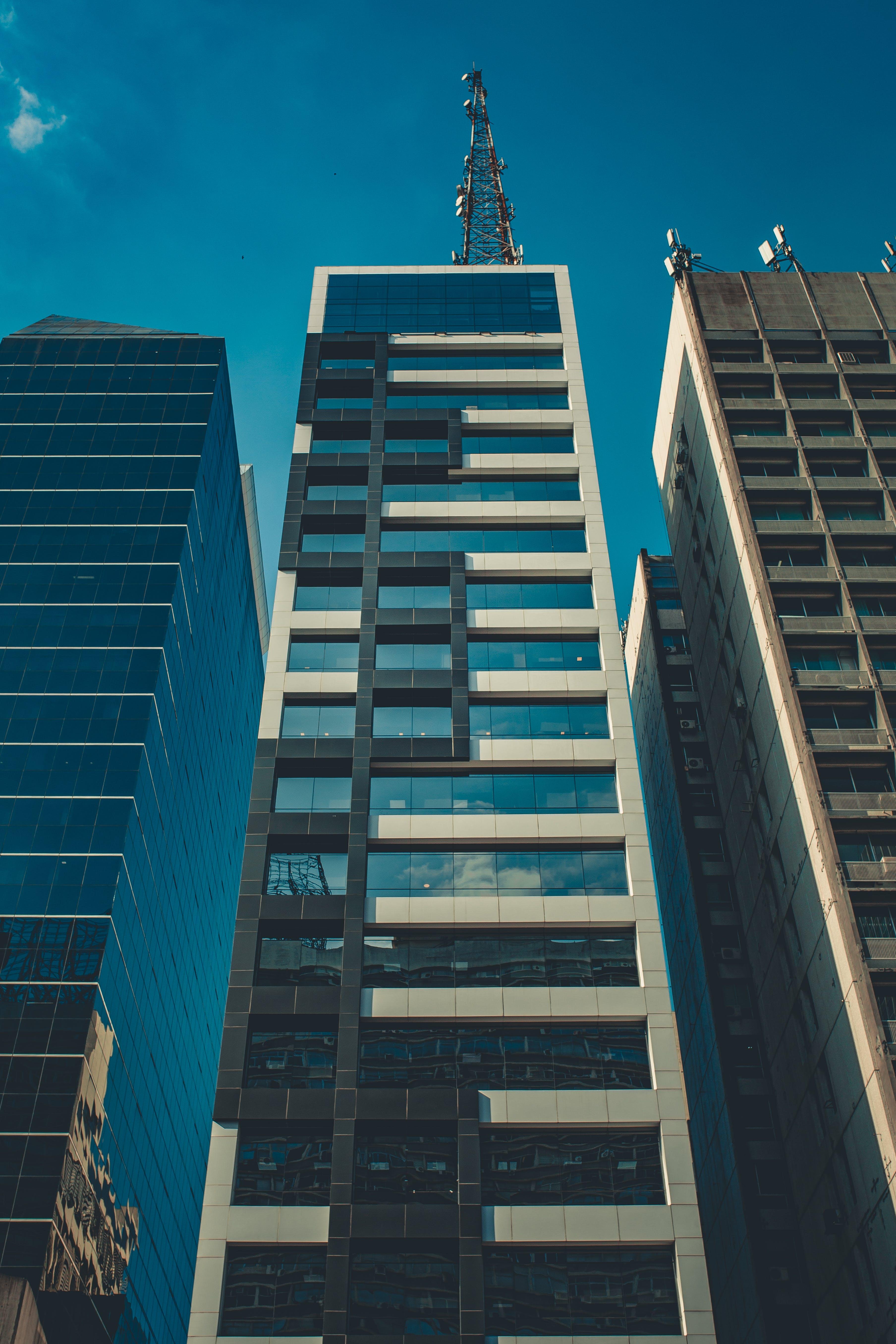 Základová fotografie zdarma na téma architektura, budovy, centrum města, kancelář