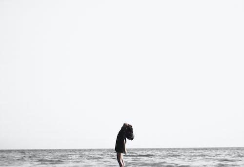 Ingyenes stockfotó ég, horizont, nő, óceán témában