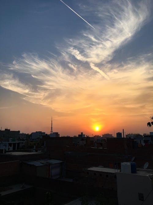Free stock photo of beautiful sunset, evening sky, evening sun
