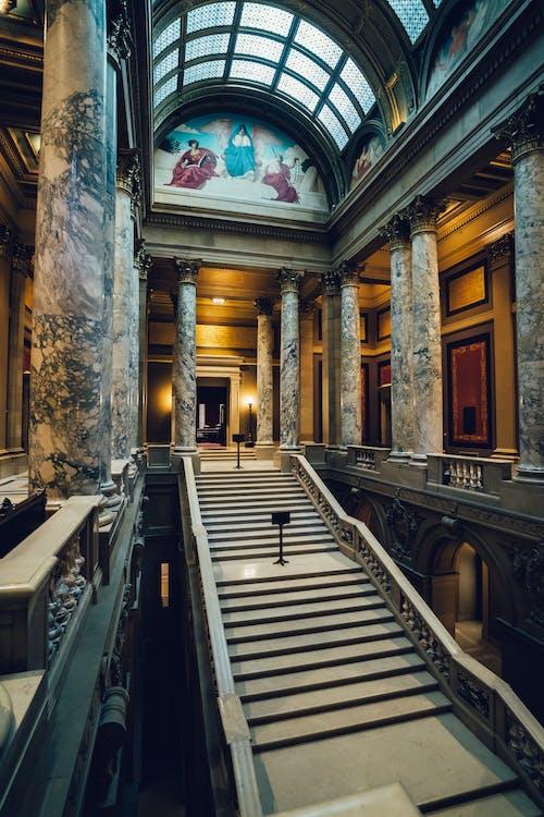 Kostnadsfri bild av arkitektur, byggnad, kolonner, pelare