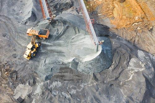 Бесплатное стоковое фото с Аэрофотосъемка, бульдозер, вид, вид сверху