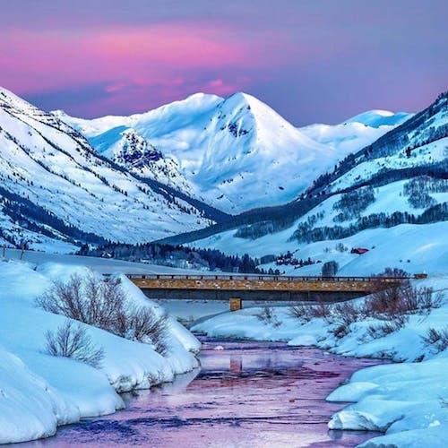 눈 덮인 산, 콜로라도의 무료 스톡 사진