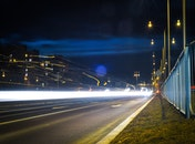light, city, road
