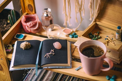 Mug Beside Book