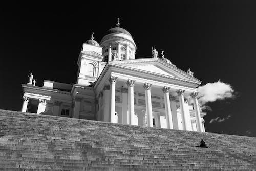 Ảnh lưu trữ miễn phí về đen và trắng, đơn sắc, nhà thờ, thánh đường