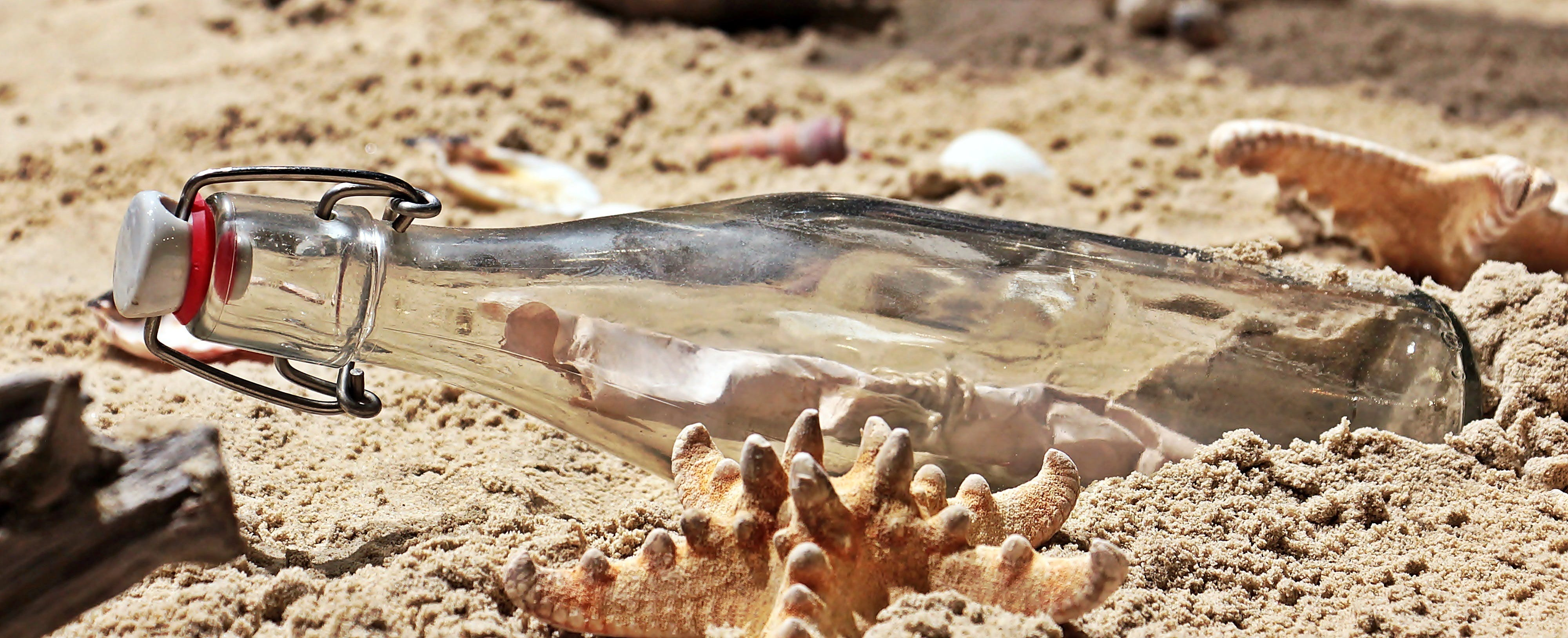 Message in a Bottle on Sand
