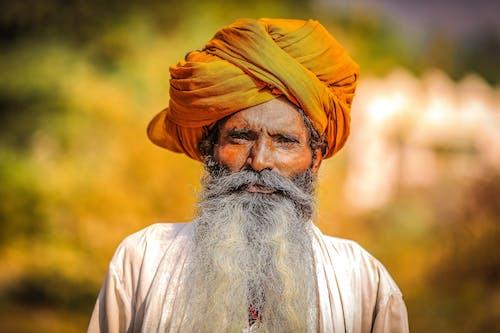 Základová fotografie zdarma na téma barva, chloupky na obličeji, dospělý, hinduistický