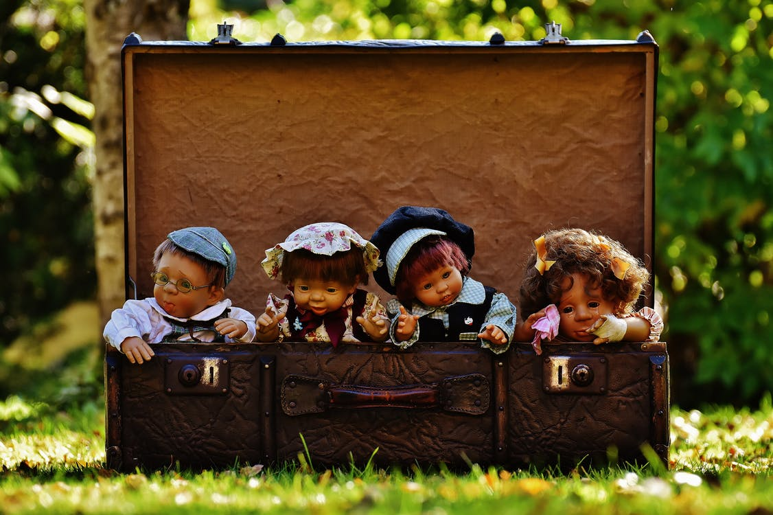 багаж, великий план, веселий