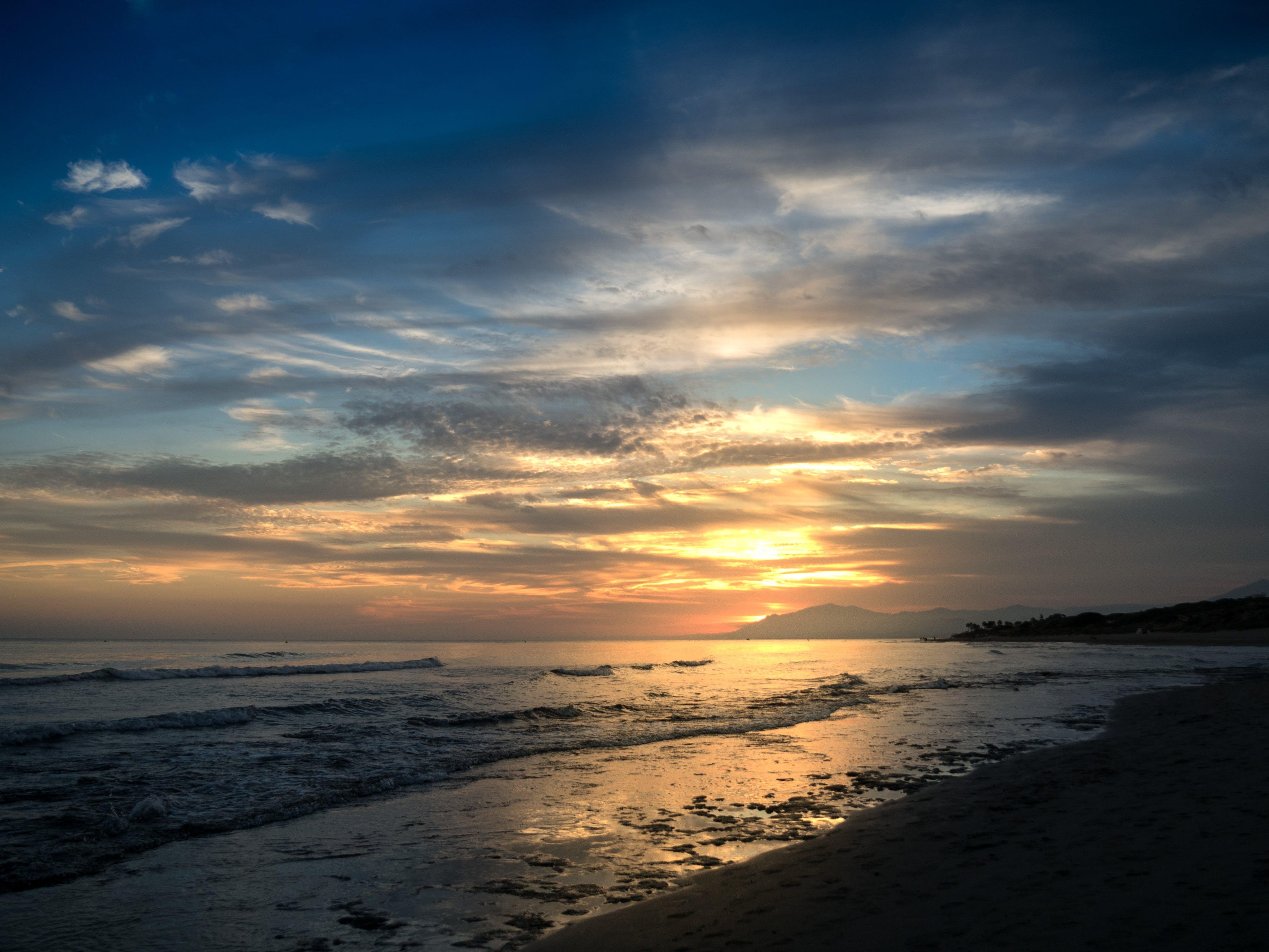 White Sand Beach during Golden Hour