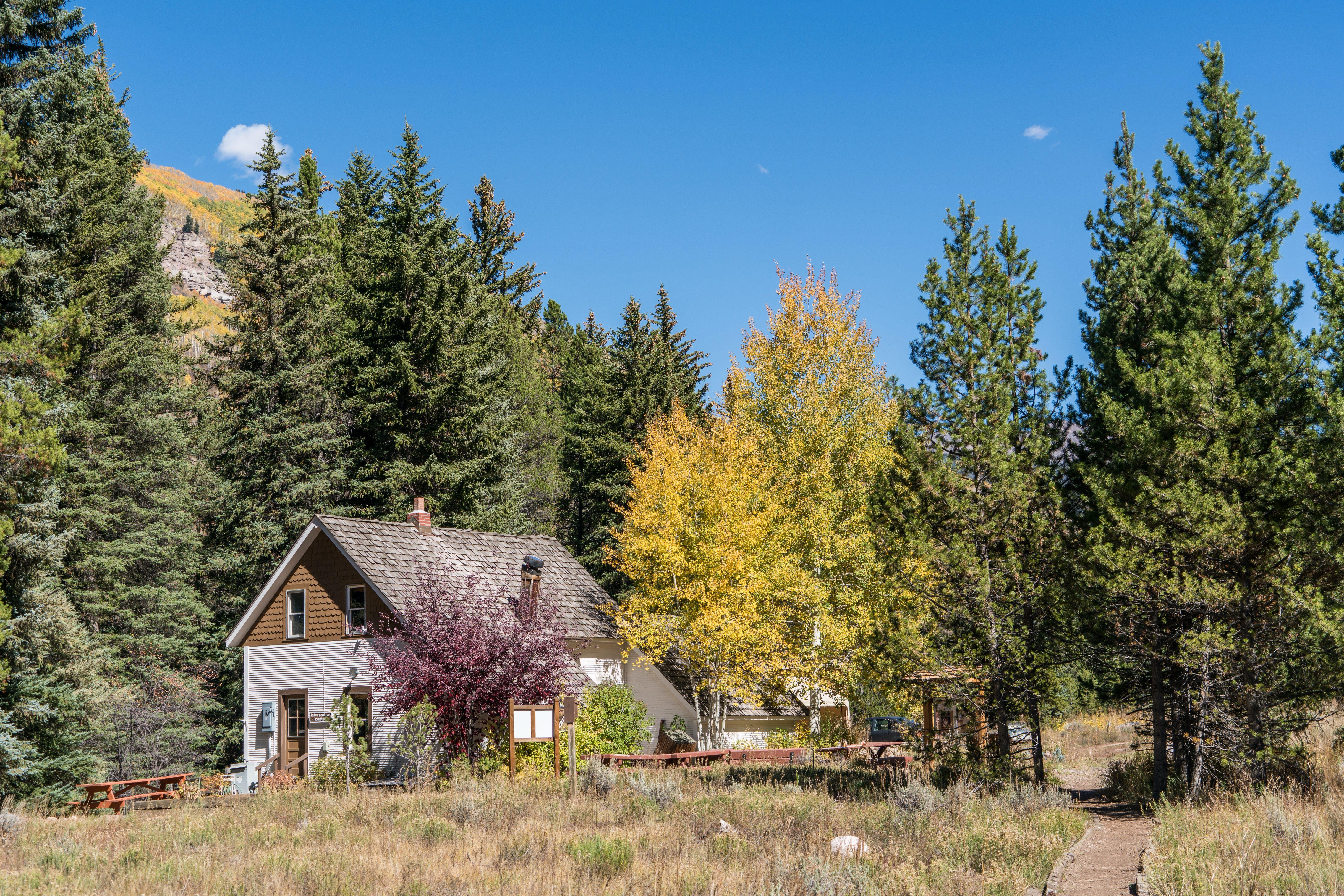 architecture, autumn, cabin