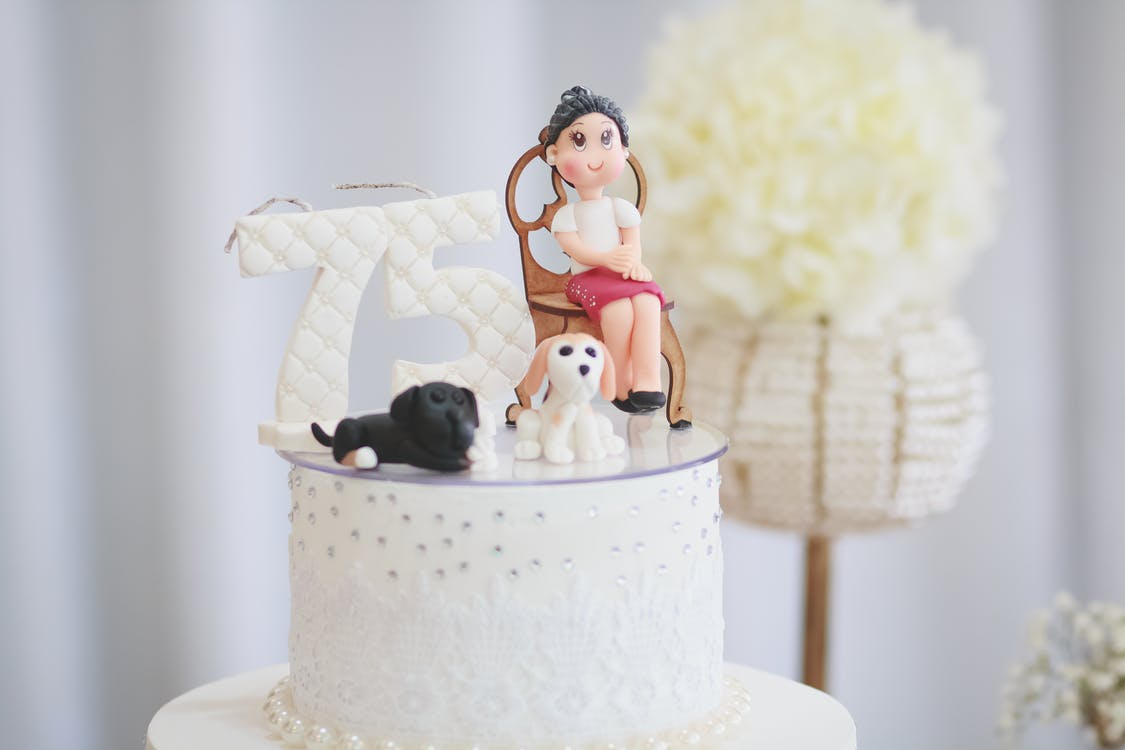 Girl Cake Topper On Cake