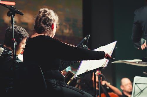 Foto stok gratis alat musik, biola, dirigen, konduktor