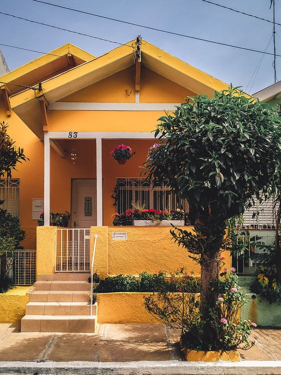 Yellow Concrete House
