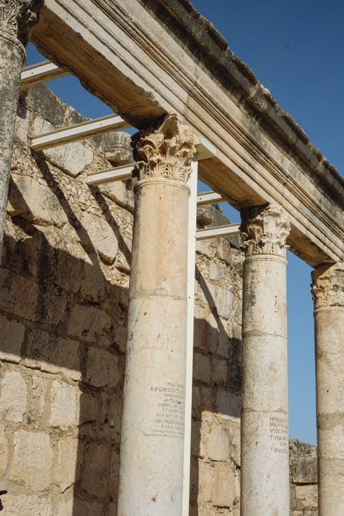 Free stock photo of architecture, capernaum, columns, holy land